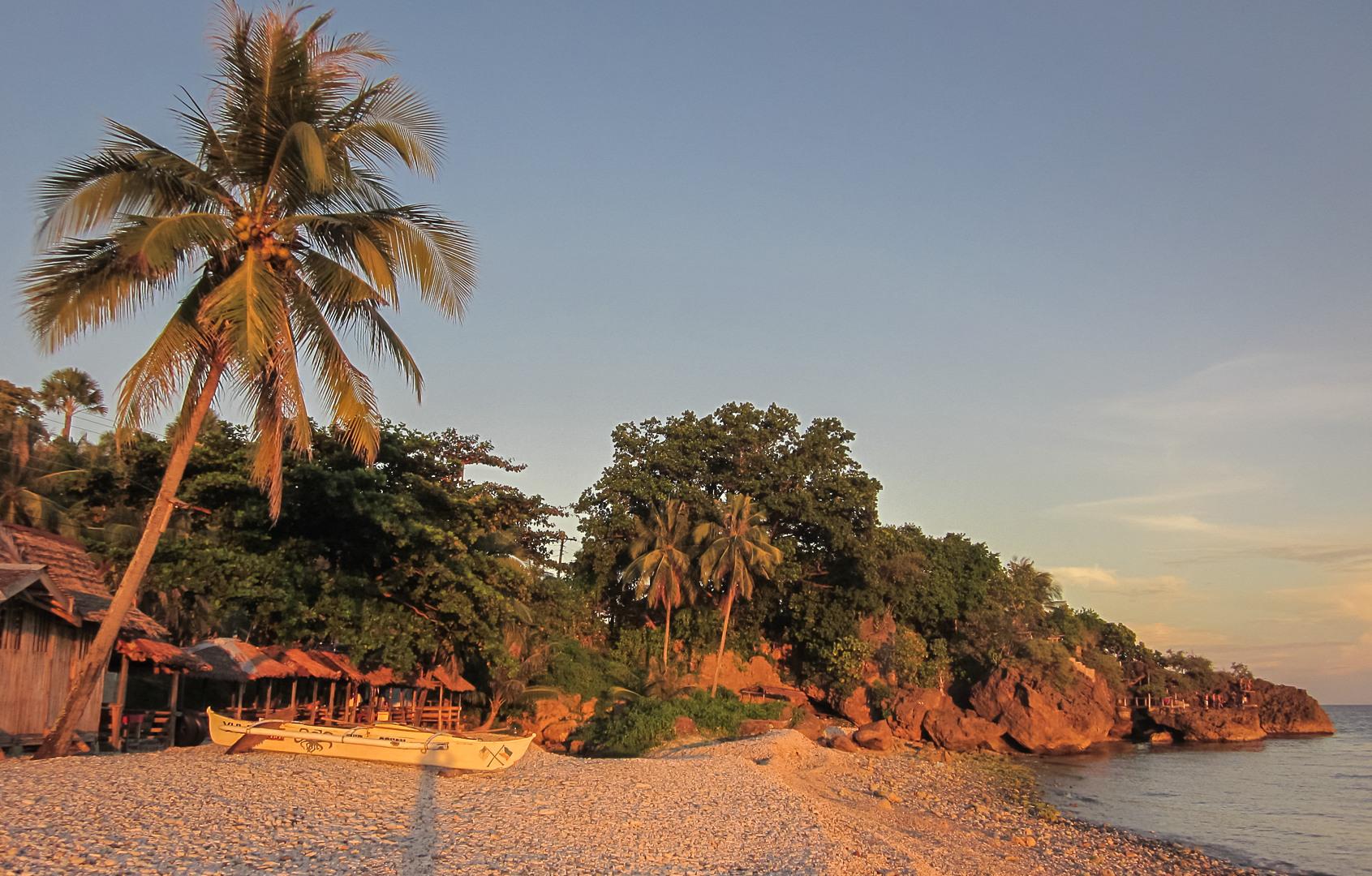 Sunset on the Bohol island