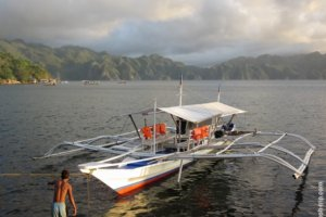 The boat in the Gulf of Coron, Philippines