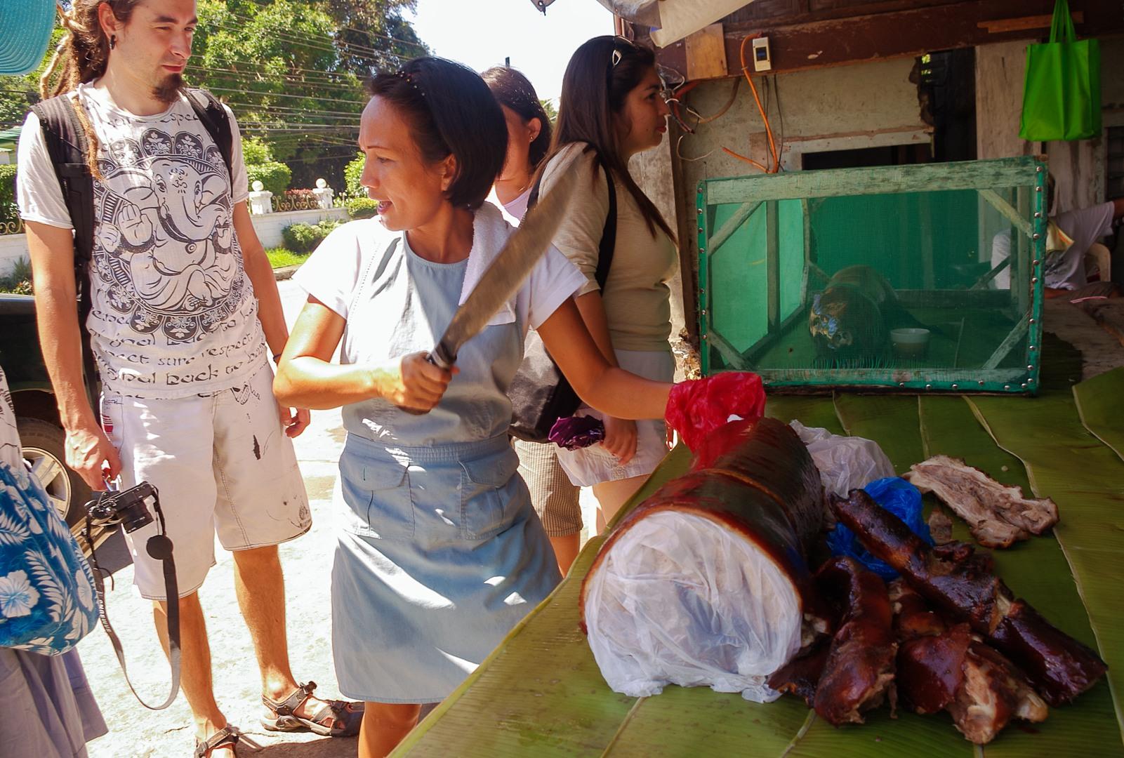 Locals and lechon, Philippines