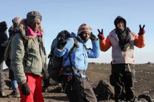 Проводники Килиманджаро на Кибо,вершины Kibo, Килиманджаро