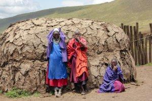 Масайские женщины, Нгоронгоро