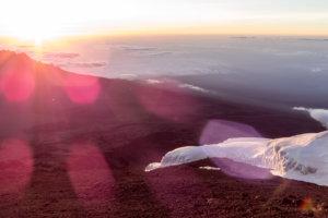 рассвет на вершине Кибо, Килиманджаро