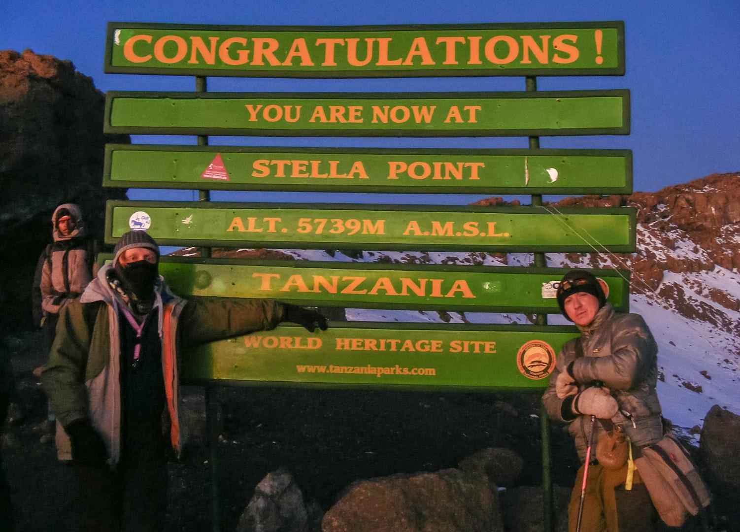 Стелла поинт, Килиманджаро
