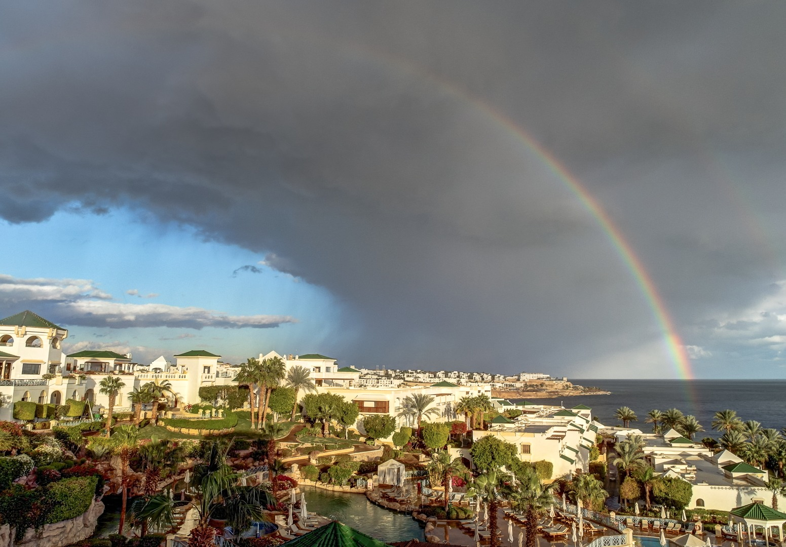 Rainbow over Sharm El Sheikh.