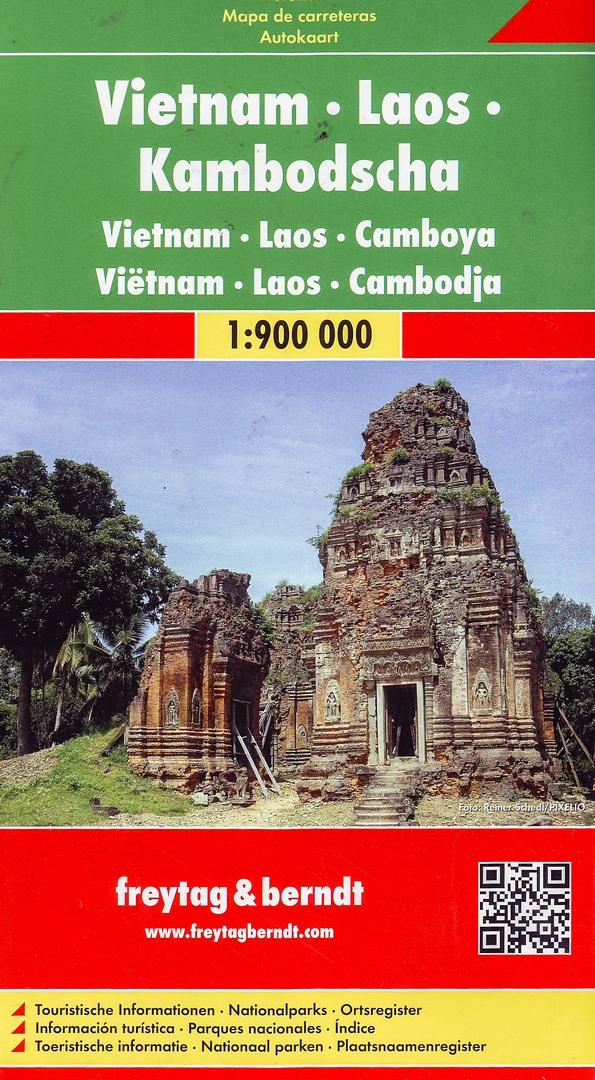 Дорожная карта Вьетнама, Лаоса и Камбоджи
