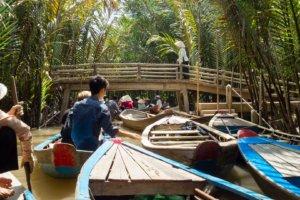 Лодки в протоках, Дельта Меконга