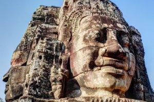 Лицо Бодхисатвы Авалокитешвары (Avalokitesvara), храм Байон (Bayon temple), Ангкор