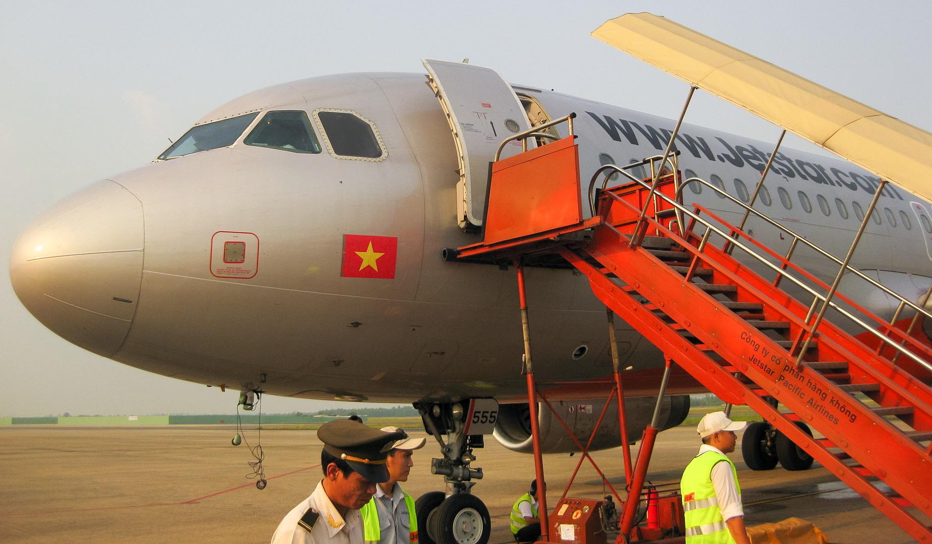 Самолёт компании Jetstar, Da Nang