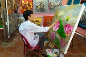 Художник в дельте Меконга