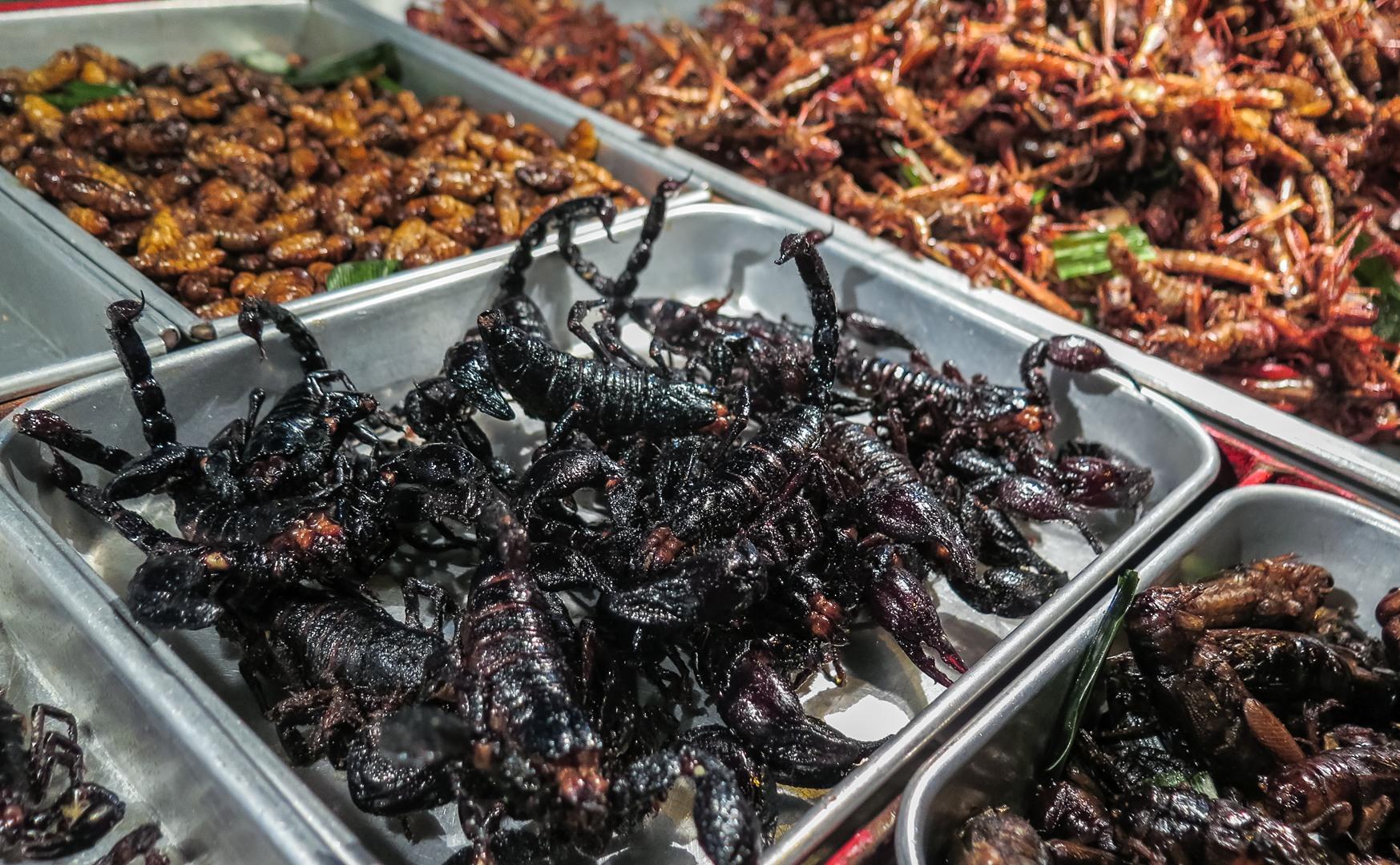Скорпионы прожаренные в масле