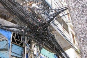 Провода на улице