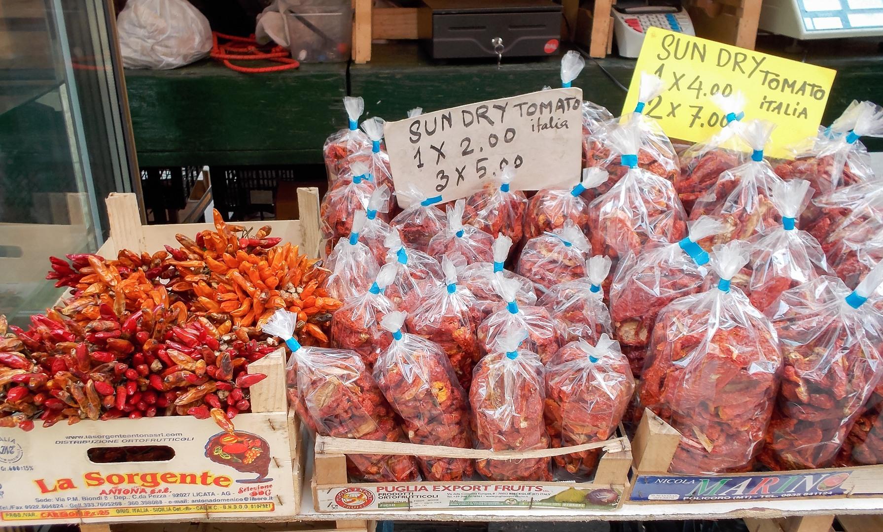 чили и сушёные помидоры