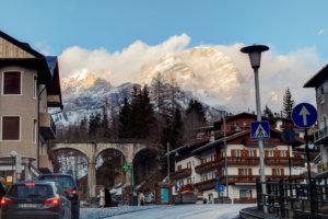 Вид на горы из Cortina-D'Ampezzo