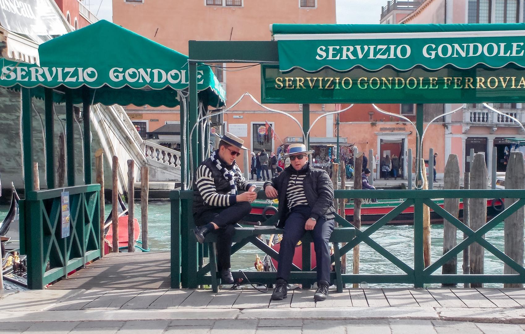 Водители гондол, Венеция, Италия
