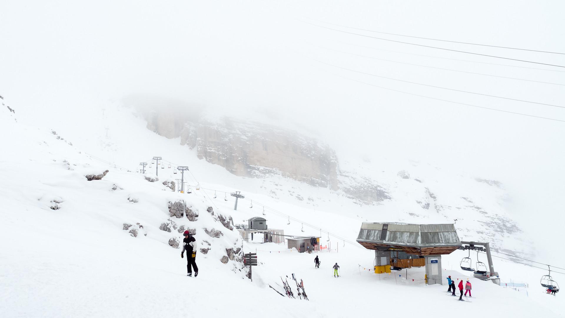 вид со склона Roncato, горы Tofane