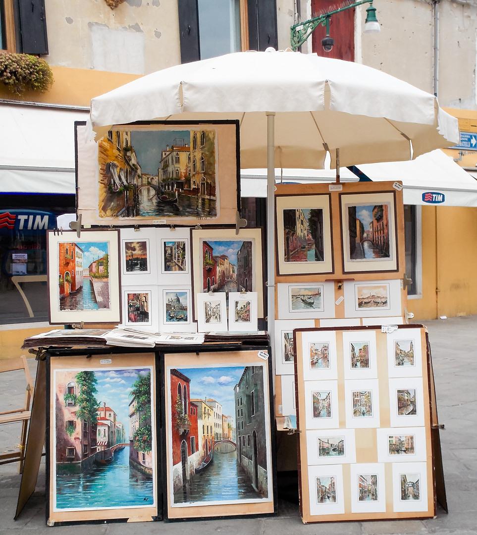 Уличные картины, Венеция, Италия