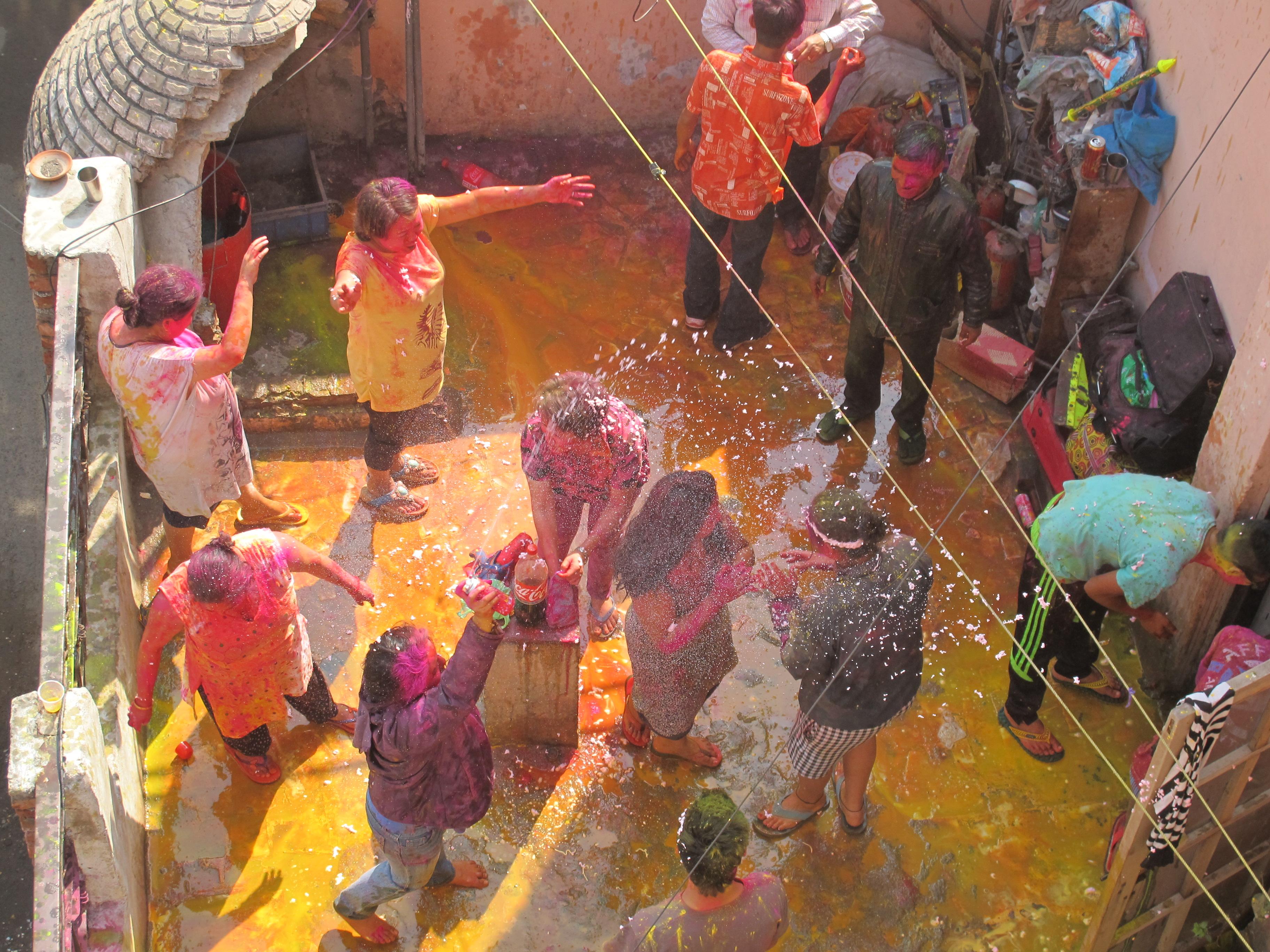 Фестиваль Холи, Дели, Индия