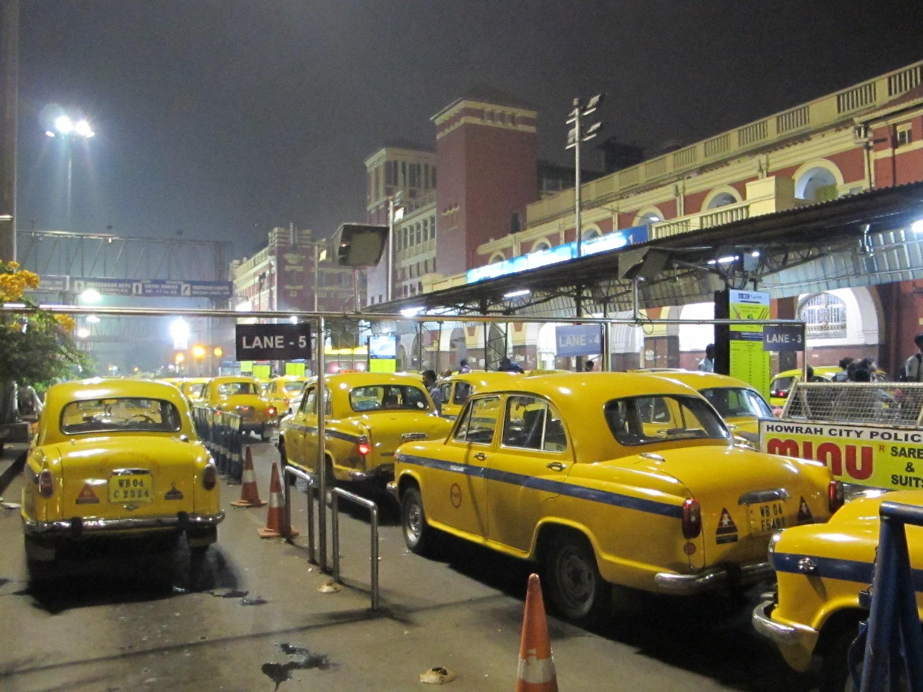 Желтые такси, Калькутта, Индия