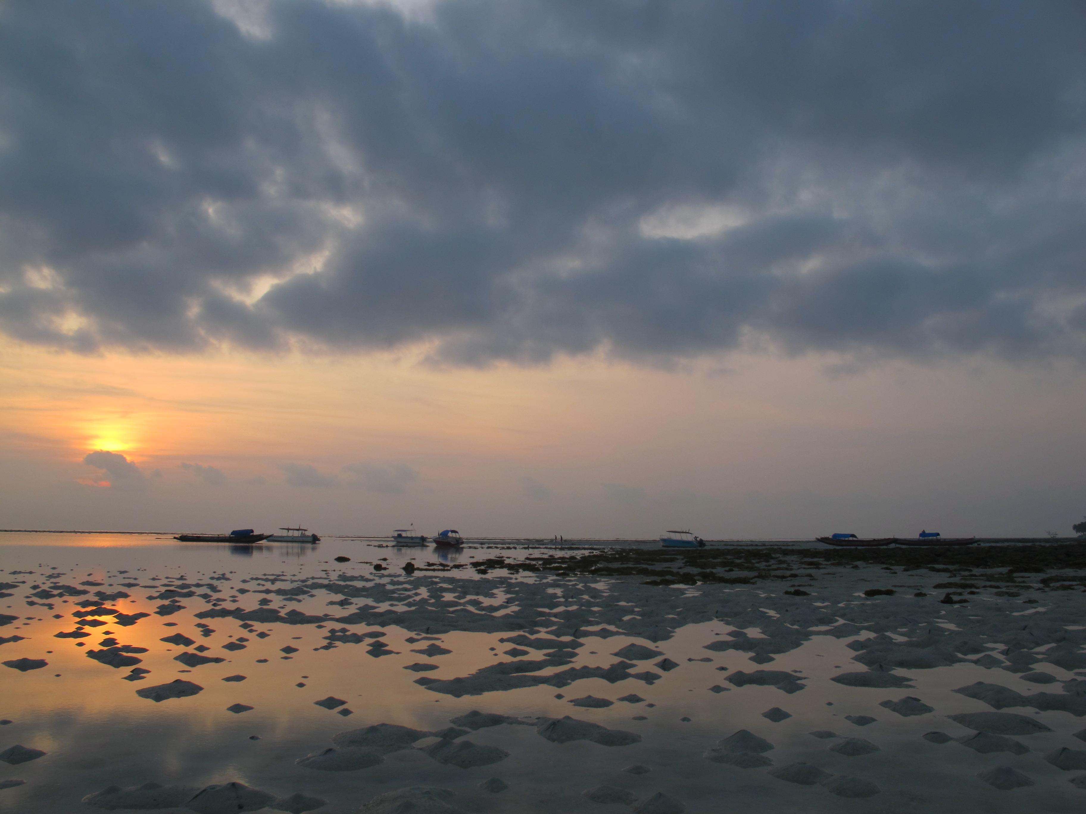 Восход. Остров Хэвлок. Отлив.
