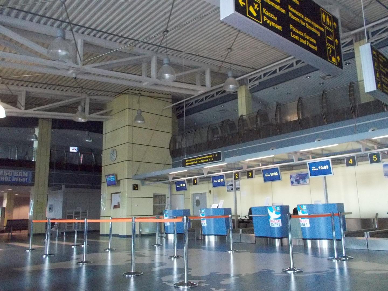 стойки регистрации в аэропорту Угольный