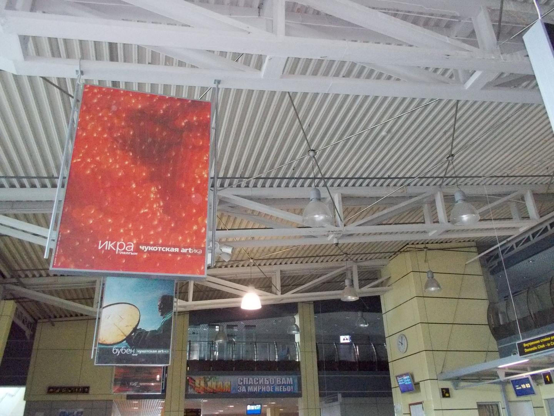 плакаты в аэропорту Угольный