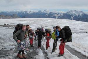 команда альпинистов, гора Эльбрус