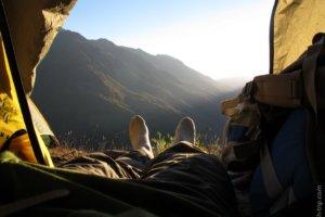 рассвет, гора Чегет