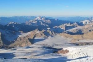 рассвет, гора Эльбрус