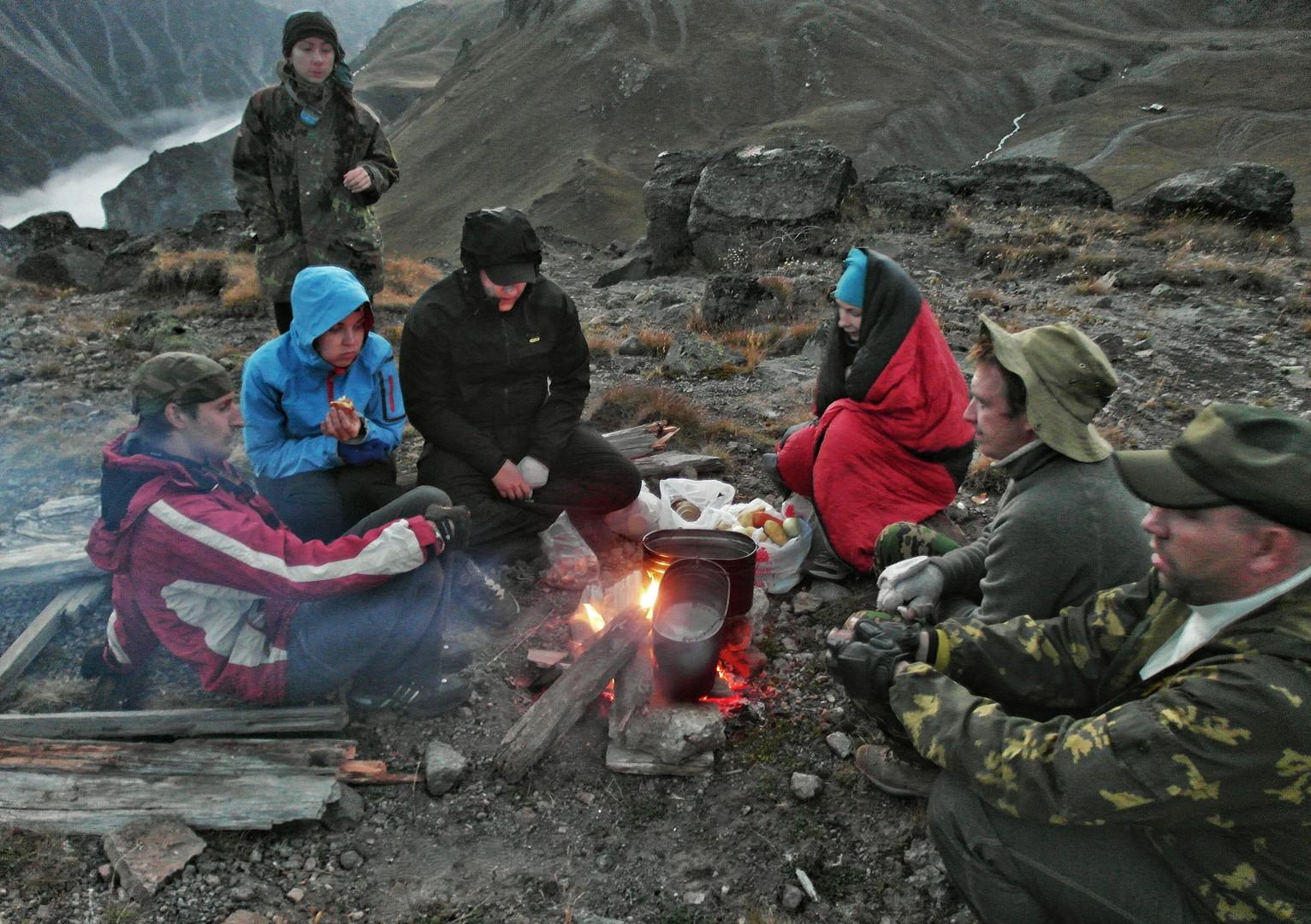 лагерь на пике Терскол
