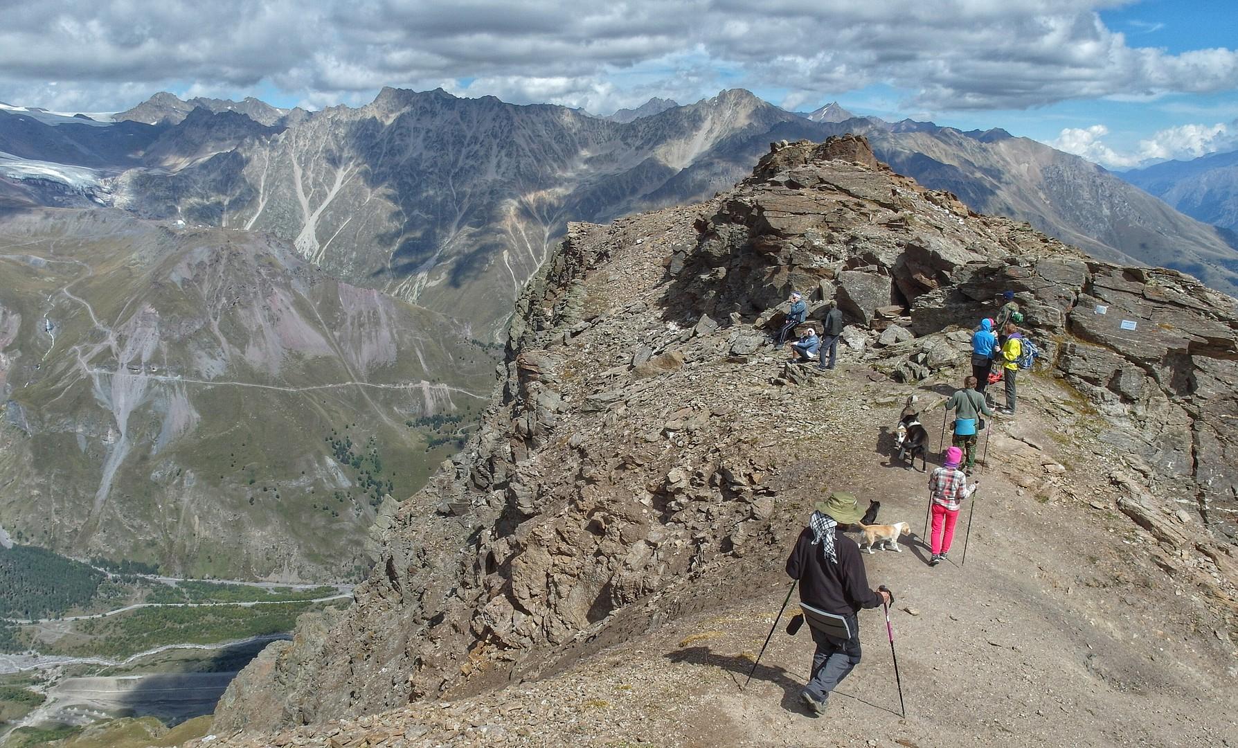 вершина горы Чегет