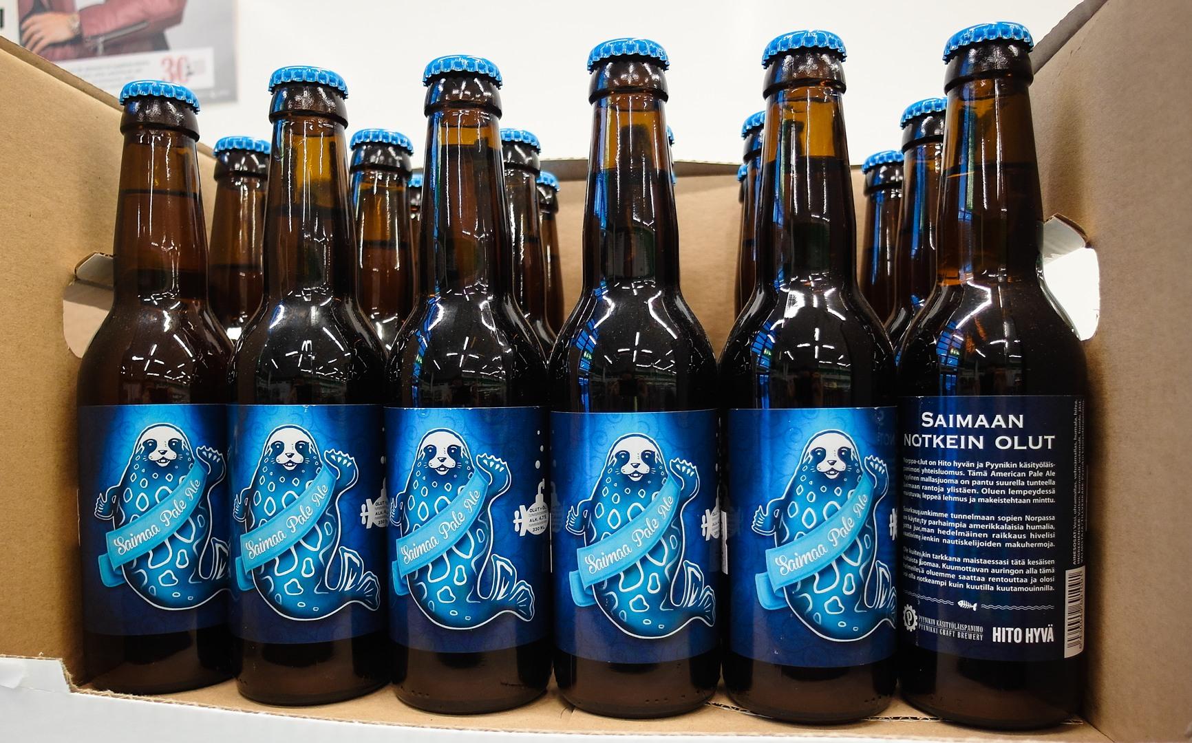 финское пиво Saimaan notkein olut