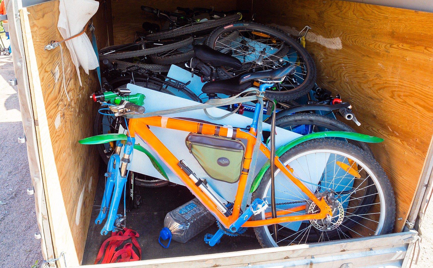 велотакси с велосипедами