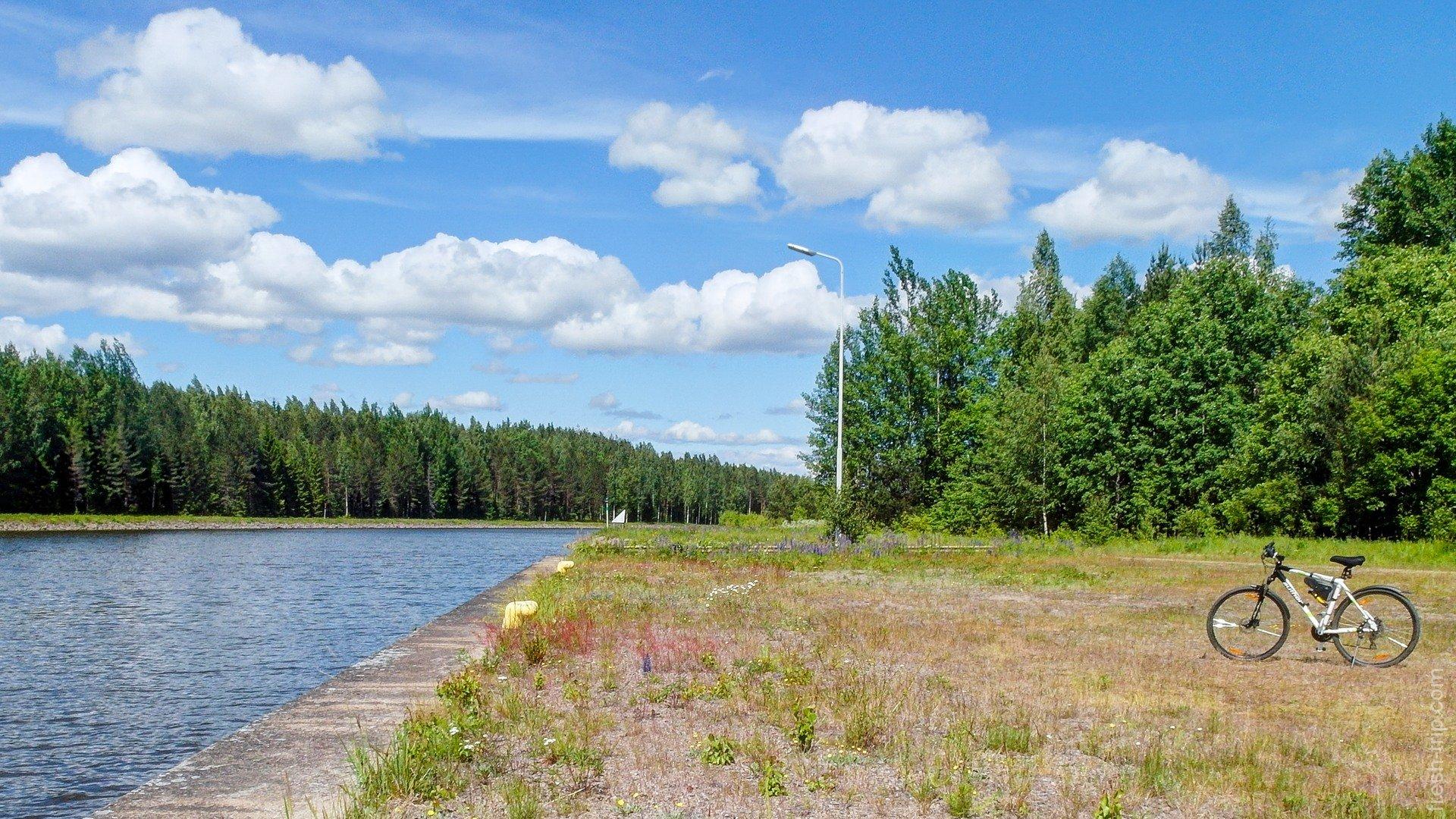 Набережная сайменского канала в Финляндии