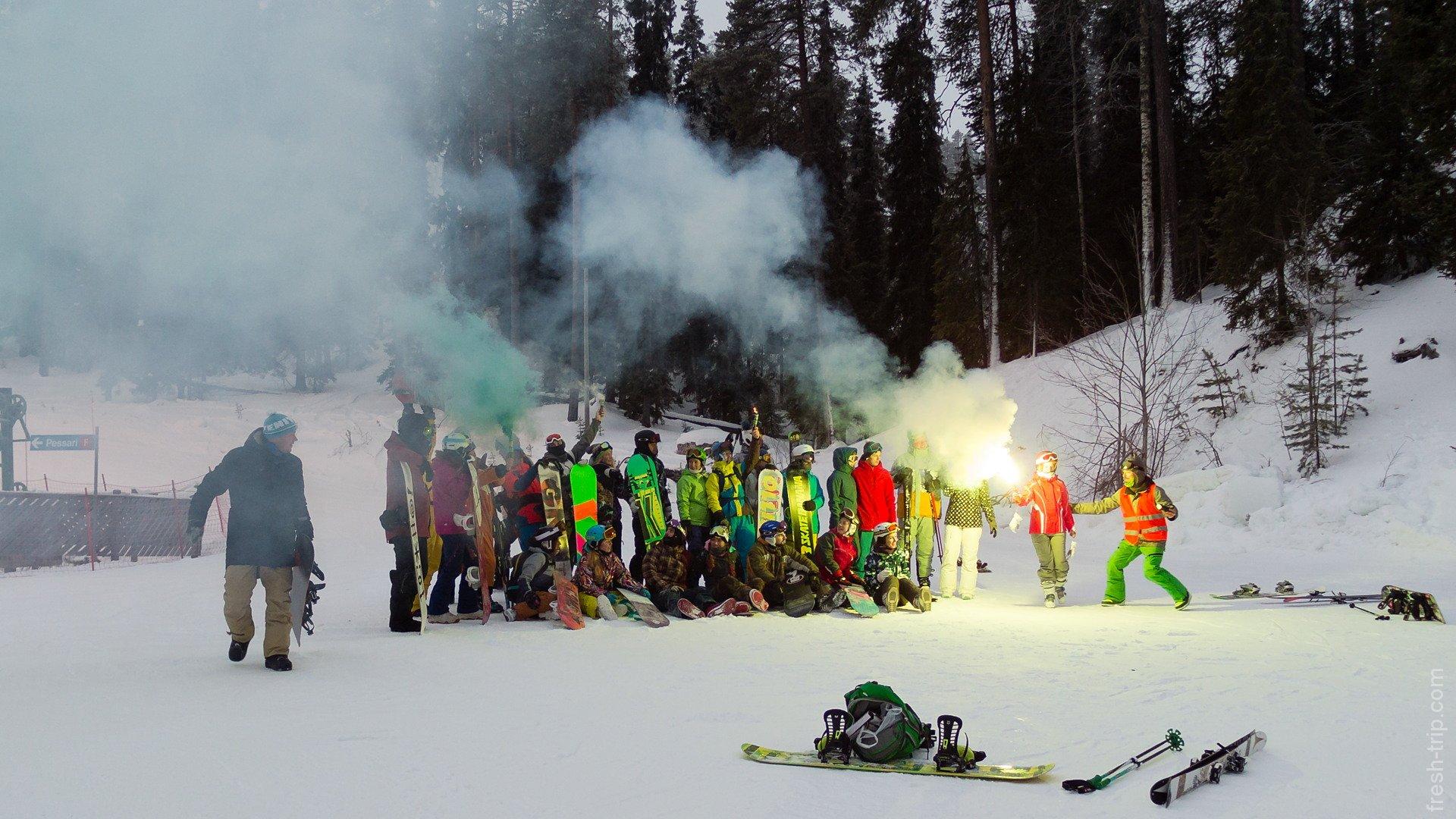 русская команда сноубордистов и лыжников