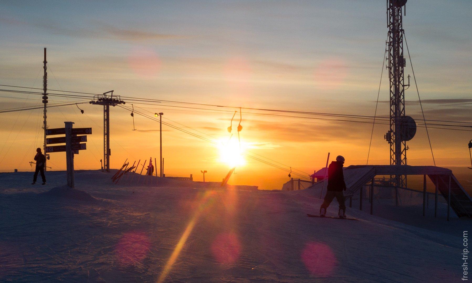 вершина горнолыжного курорта Ruka (Рука)